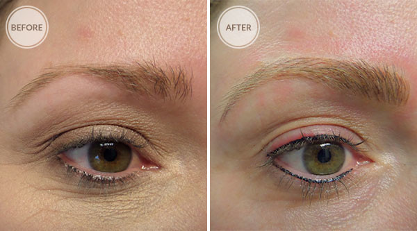eyebrow microblading blonde hair. 3d eyebrows and eyeliner permanent makeup eyebrow microblading blonde hair