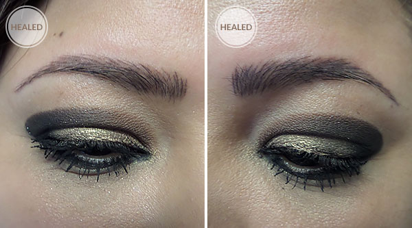 3D Eyebrows Permanent Makeup Healed Brows